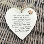 Shabby personalised Gift Chic Heart Plaque Special Auntie Aunty Great Aunt Gift - 332885826620